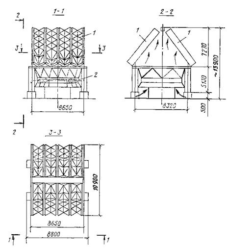 Схема радиаторной градирни